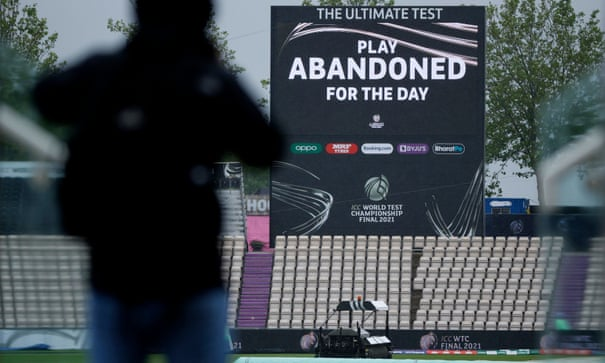Extra time in prospect as rain washes out day one of India v New Zealand final