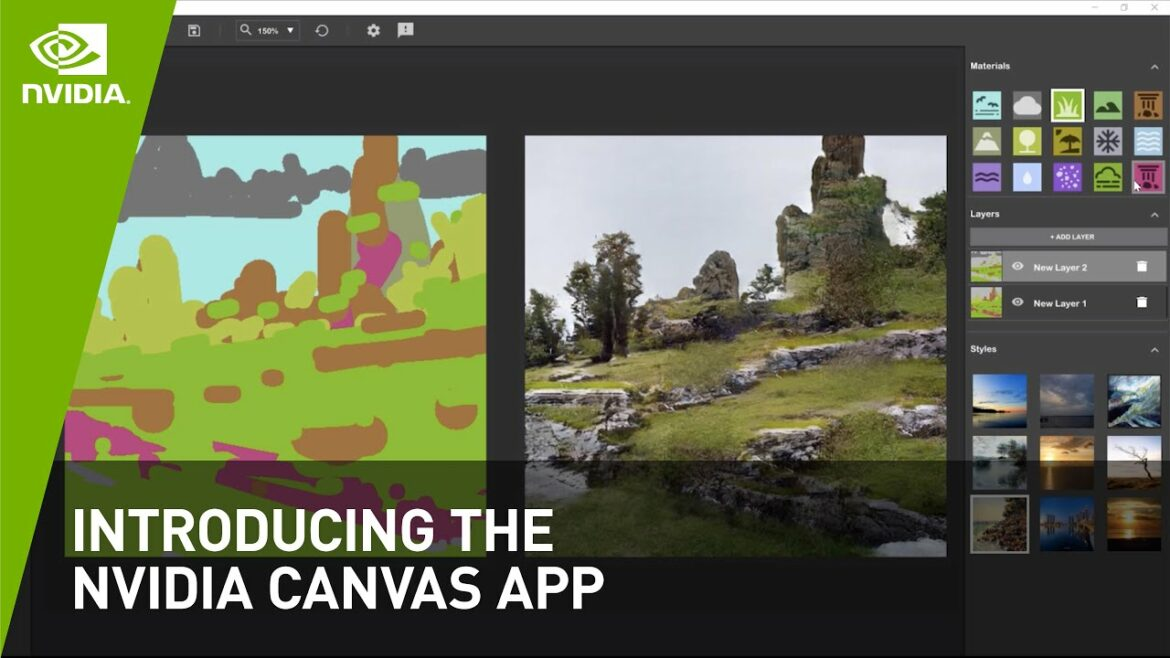 Canvas from Nvidia can turn your digital scribbles into near photo-real images